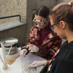 Herstellen und Abkühlen der Natronlauge